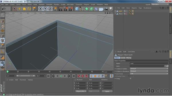 Moving edges and points with the improved Slide tool: CINEMA 4D R15 New Features