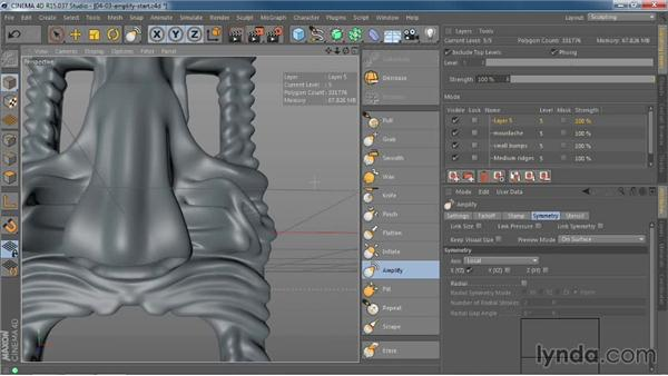 Bringing out detail with the new Amplify tool: CINEMA 4D R15 New Features
