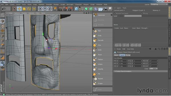 Using Mesh Projection to correct topology