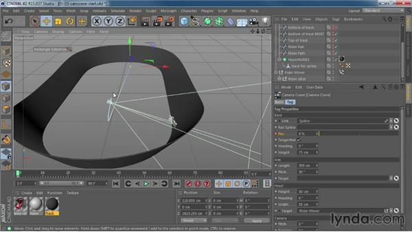 Creating dynamic moves using the new Camera Crane rig: CINEMA 4D R15 New Features