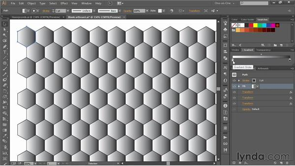 262 Creating a honeycomb pattern in Illustrator: Deke's Techniques