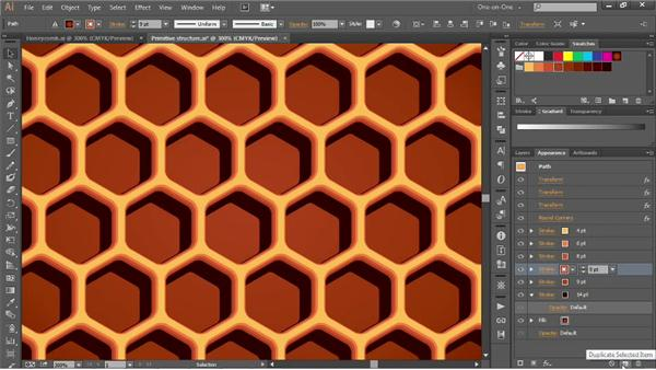 263 Building up strokes to create 3D honeycomb: Deke's Techniques