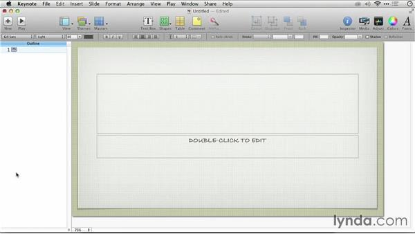 Converting the outline into an initial deck: Keynote: From Outline to Presentation