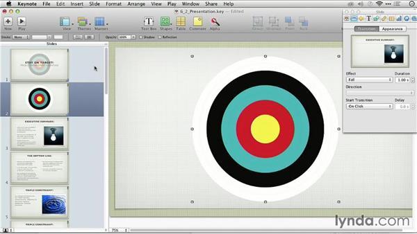 Animating images: Keynote: From Outline to Presentation