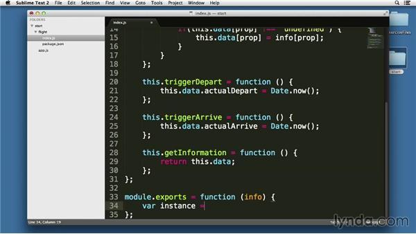 Implementing JavaScript creational patterns: Node.js Essential Training (2013)