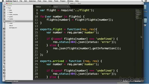Solution: List all records as JSON: Node.js Essential Training (2013)