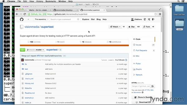 Writing unit tests with Mocha: Node.js Essential Training (2013)