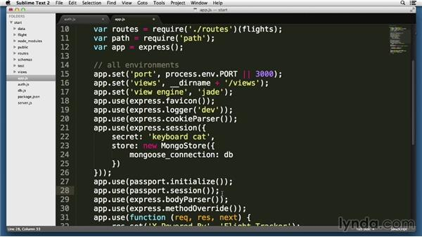 Logging in to Express applications using Passport: Node.js Essential Training (2013)