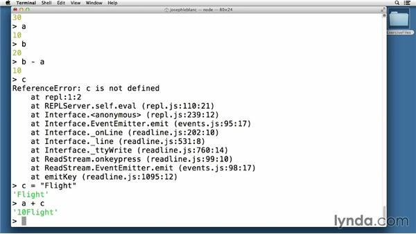 Controlling the built-in REPL: Node.js Essential Training (2013)