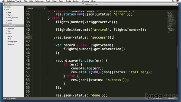 Emitting events and attaching listeners: Node.js Essential Training (2013)