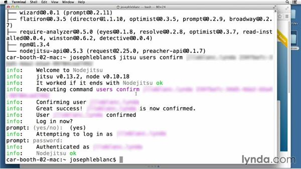 Deploying projects to cloud hosting services: Node.js Essential Training (2013)