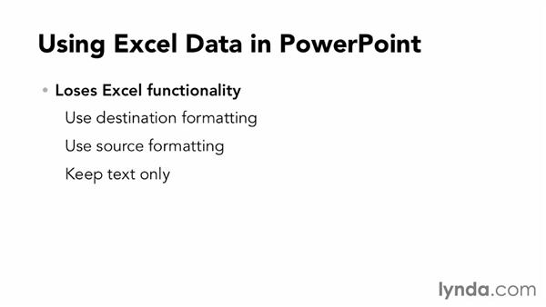 Using Excel data in PowerPoint: Data-Driven Presentations with Excel and PowerPoint