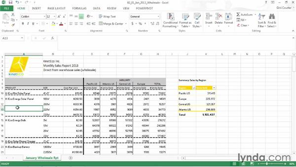 Formatting a range as a table: Data-Driven Presentations with Excel and PowerPoint