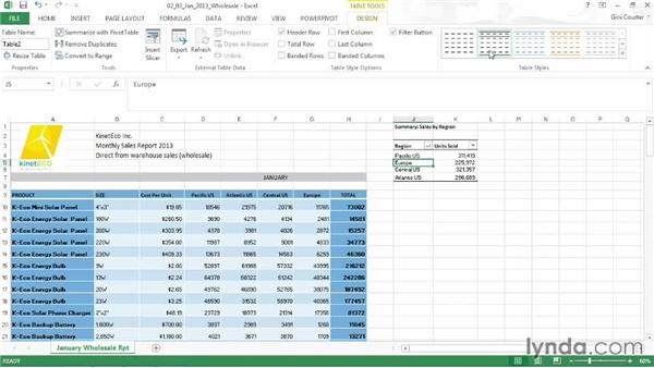 Changing a table to a range: Data-Driven Presentations with Excel and PowerPoint