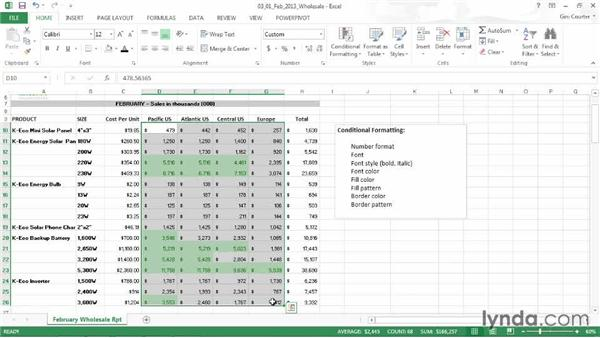 Understanding conditional formatting: Data-Driven Presentations with Excel and PowerPoint