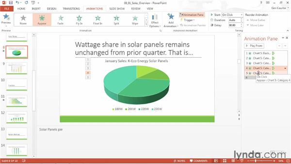 Removing animation: Data-Driven Presentations with Excel and PowerPoint