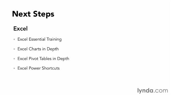 Next steps: Data-Driven Presentations with Excel and PowerPoint