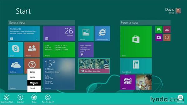 Personalizing Windows 8.1: Windows 8.1 Essential Training