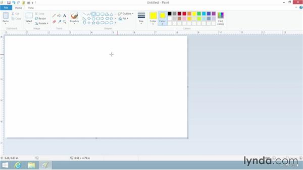 Creating graphics with Paint: Windows 8.1 Essential Training