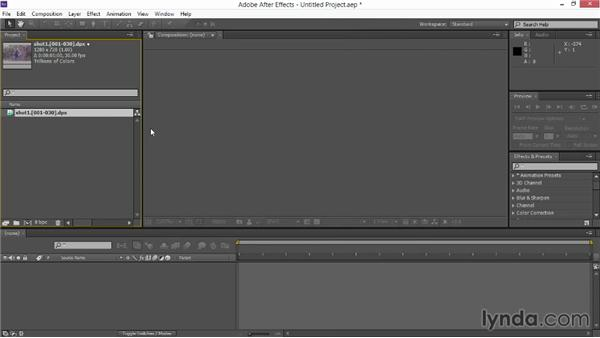Setting up the project in After Effects: VFX Techniques: Creating Particle Effects