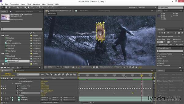Continuing with motion tracking: VFX Techniques: Creating Particle Effects