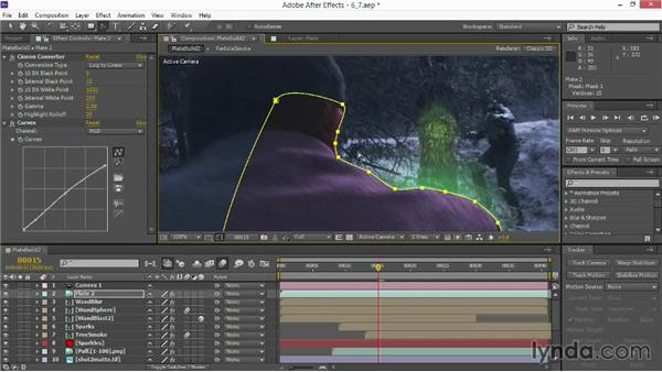 Rotoscoping the foreground: VFX Techniques: Creating Particle Effects
