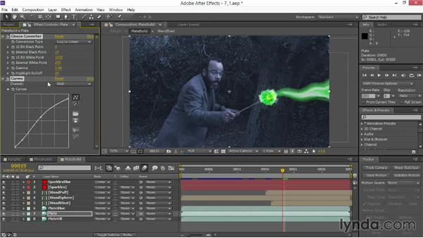 Preparing the green screen: VFX Techniques: Creating Particle Effects
