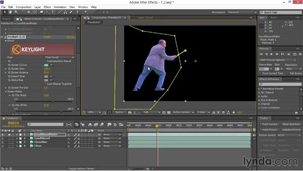 Keying green screen: VFX Techniques: Creating Particle Effects