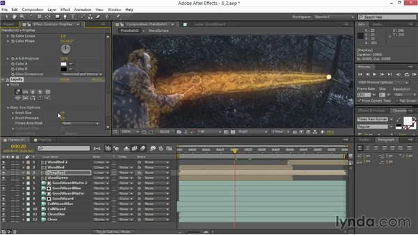 Using the Liquify effect: VFX Techniques: Creating Particle Effects