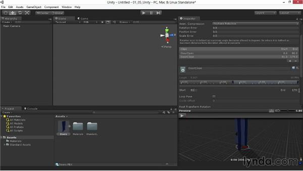 Segmenting animations in Unity: Animating for Unity 3D in 3ds Max