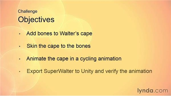 Challenge: Adding bones to Walter's cape: Animating for Unity 3D in 3ds Max