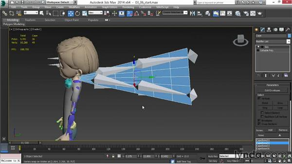 Solution: Adding bones to Walter's cape: Animating for Unity 3D in 3ds Max