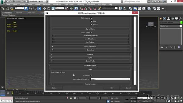 Exporting the animation: Animating for Unity 3D in 3ds Max