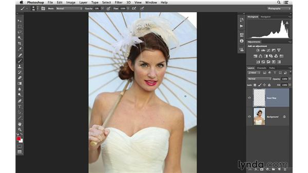 Creating a road map for the project: Retouching Bridal Portraits with Photoshop