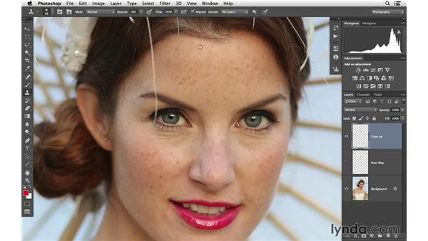 Cleaning up images: Retouching Bridal Portraits with Photoshop