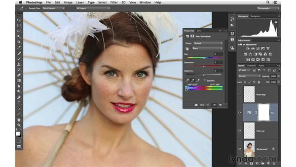 Fixing a specific color problem: Retouching Bridal Portraits with Photoshop