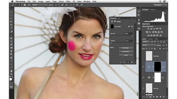 Adding blush to the face: Retouching Bridal Portraits with Photoshop