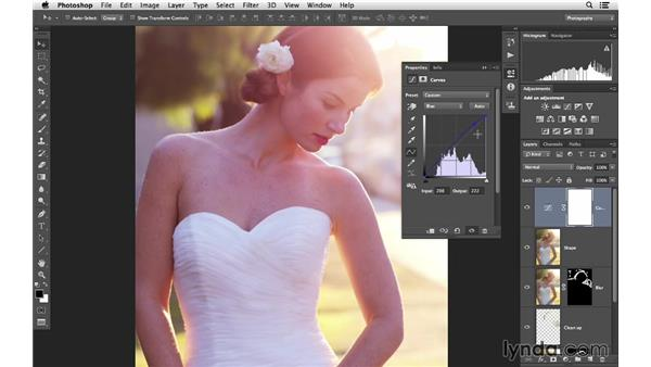 Enhancing the overall color with curves: Retouching Bridal Portraits with Photoshop