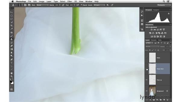 Improving the flowers: Retouching Bridal Portraits with Photoshop