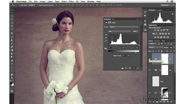 Adding a creative color effect: Retouching Bridal Portraits with Photoshop