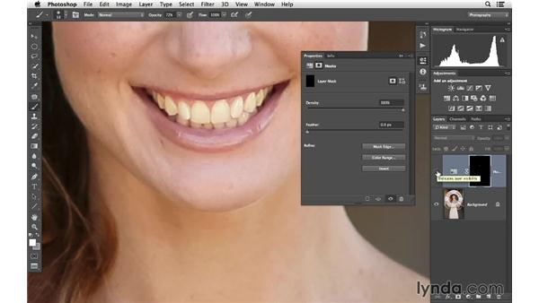 Whitening teeth: Retouching Bridal Portraits with Photoshop