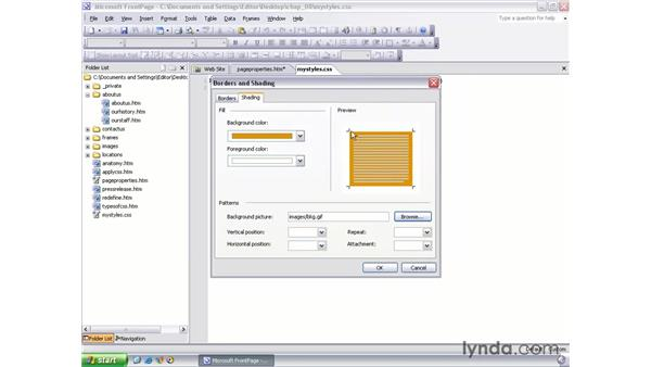 creating external style sheets: FrontPage 2003 Essential Training