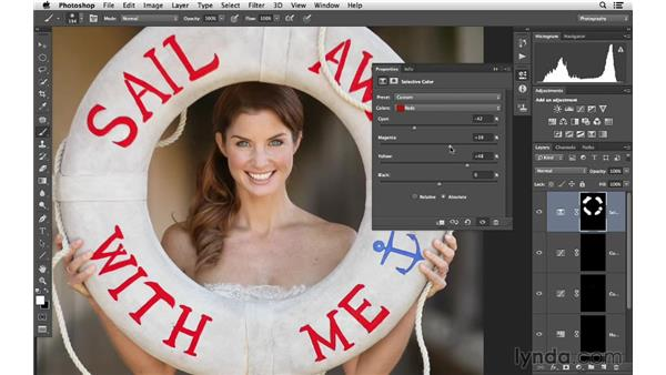 Improving color with the selective color controls: Retouching Bridal Portraits with Photoshop