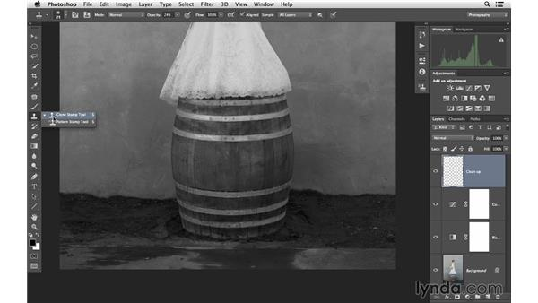 Enhancing an image by converting it to black and white: Retouching Bridal Portraits with Photoshop