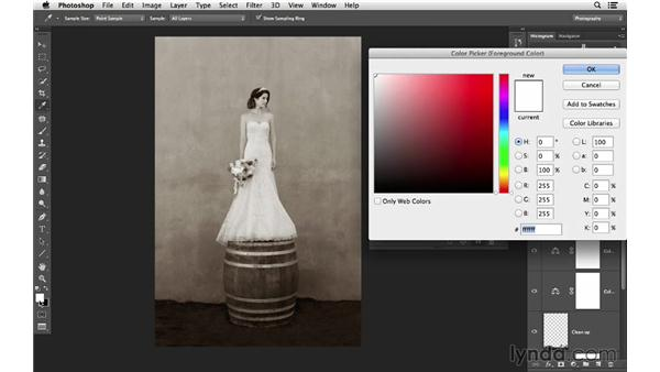 Enhancing color: Retouching Bridal Portraits with Photoshop