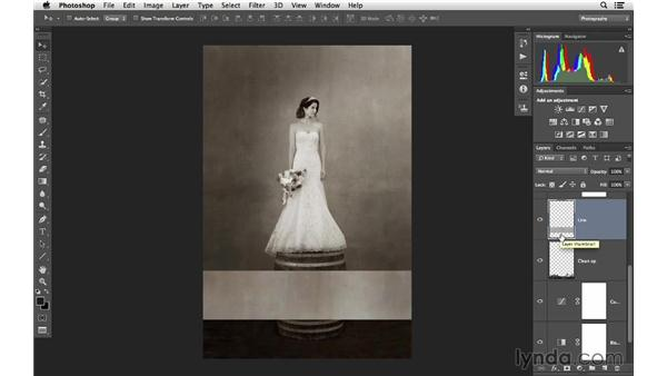 Copying texture from one area to another: Retouching Bridal Portraits with Photoshop
