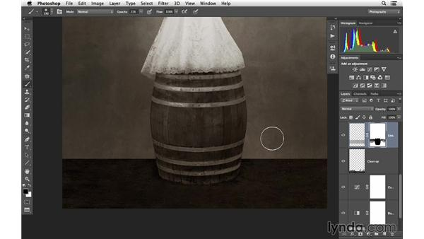 Masking in the next texture: Retouching Bridal Portraits with Photoshop