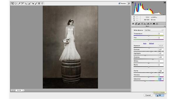 Finishing the project with Camera Raw: Retouching Bridal Portraits with Photoshop