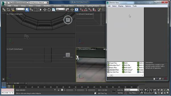 Creating and deleting a Standard Flow: Up and Running with Particle Flow in 3ds Max