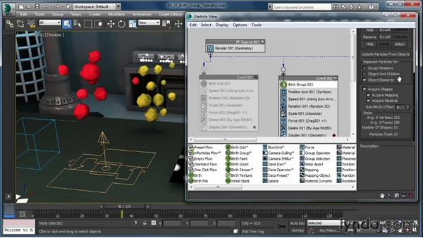 The Birth Group operator: Up and Running with Particle Flow in 3ds Max